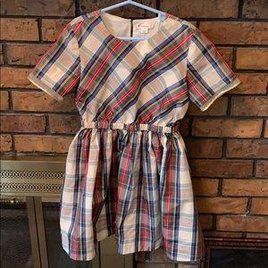 Crewcuts Plaid Shortsleeve Dress Sequin Holiday